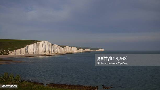 Scenic View Of Sea By Beachy Head Against Sky