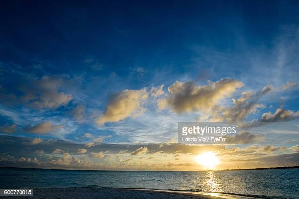 Scenic View Of Sea During Sunrise