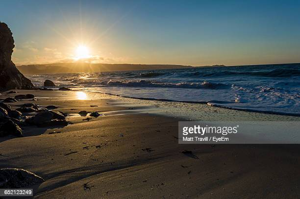 scenic view of sea during sunset - st ives stock pictures, royalty-free photos & images
