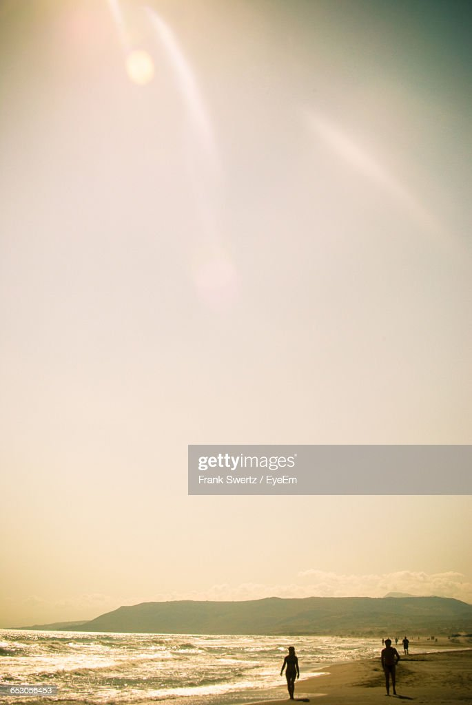 Scenic View Of Sea During Sunset : Stock-Foto