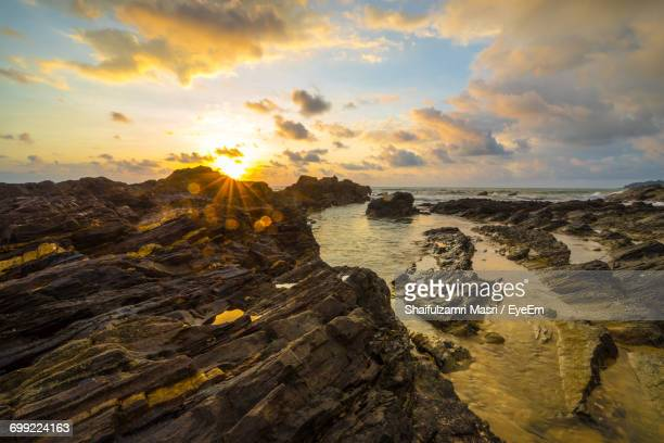 scenic view of sea during sunset - shaifulzamri eyeem stock pictures, royalty-free photos & images