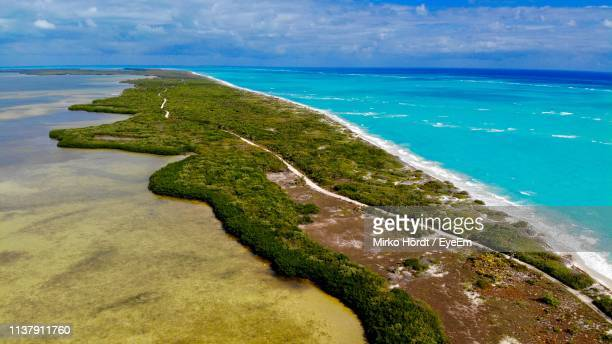 scenic view of sea - yucatan peninsula stock pictures, royalty-free photos & images