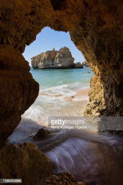 scenic view of sea - albufeira stock pictures, royalty-free photos & images