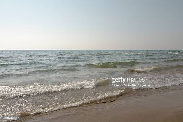 scenic view of sea - albrecht schlotter stock photos and pictures