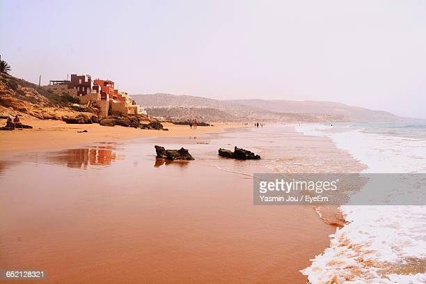 scenic view of sea - agadir stock pictures, royalty-free photos & images