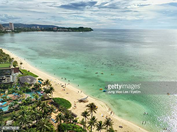 scenic view of sea - guam stock pictures, royalty-free photos & images