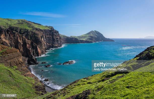 scenic view of sea - madeira island stock photos and pictures