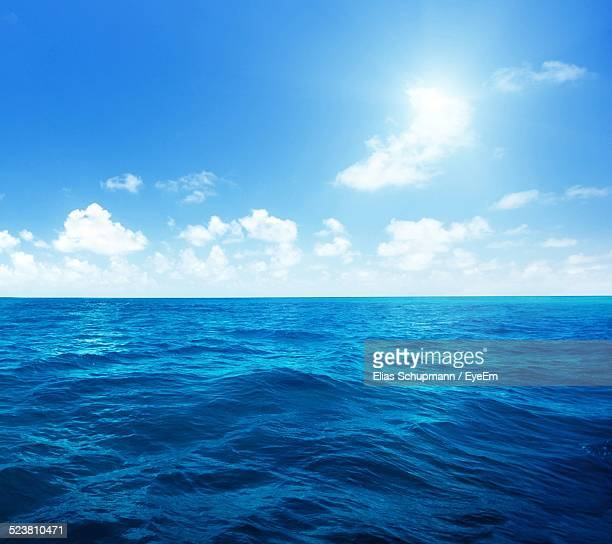 scenic view of seascape against sky - horizon over water stock pictures, royalty-free photos & images