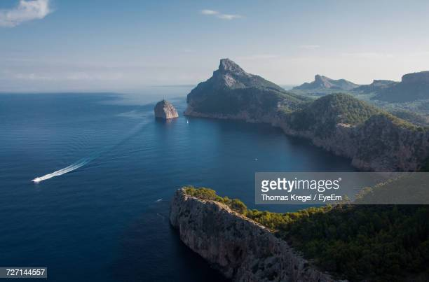 Scenic View Of Seascape In Spain