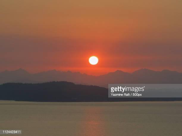 Scenic view of setting sun