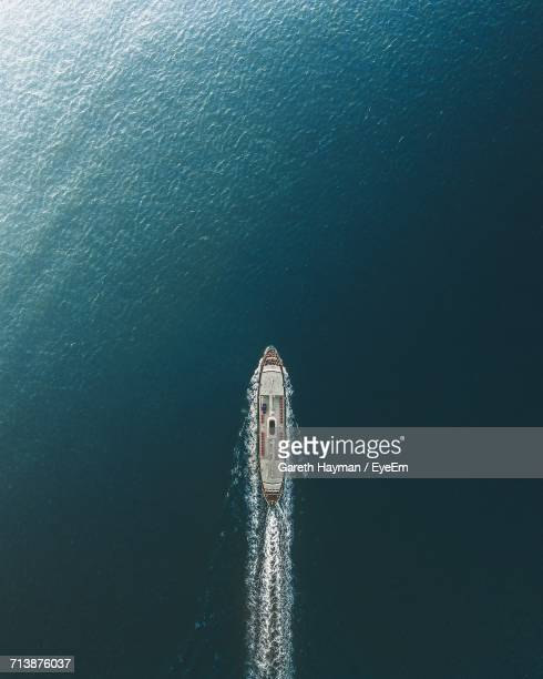 scenic view of ship in sea - slave ship stock photos and pictures