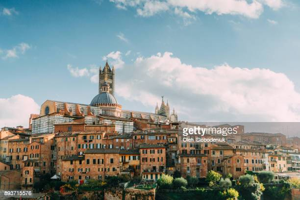 Scenic view of Siena from viewpoint