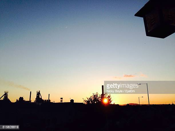 scenic view of sky at dusk - port talbot stock pictures, royalty-free photos & images