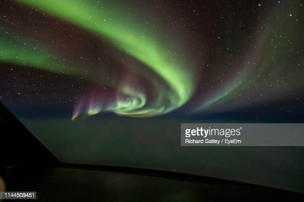 scenic view of sky at night - hudson bay stock photos and pictures