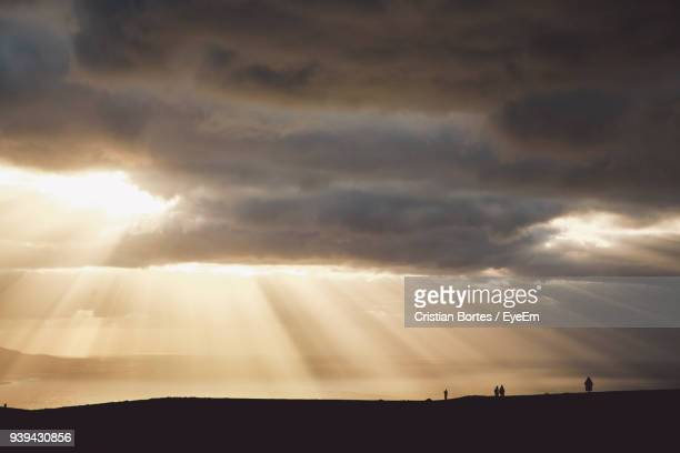 scenic view of sky during sunset - bortes photos et images de collection