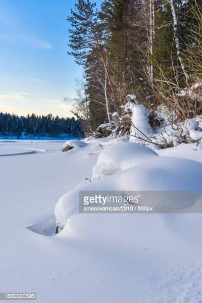 scenic view of snow covered field against sky,russia - 2010 2019 stock pictures, royalty-free photos & images