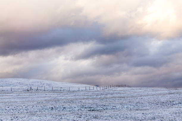Scenic view of snow covered land against sky,Bolsterlang,Germany