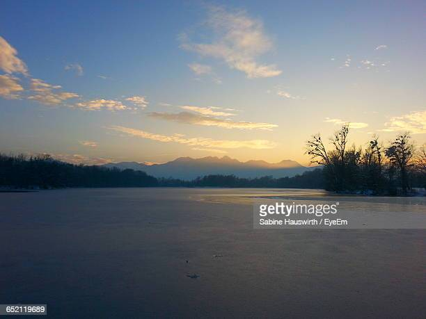 scenic view of snow covered mountains against sky - sabine hauswirth stock pictures, royalty-free photos & images