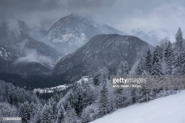 scenic view of snow covered mountains against sky,austria - andy dauer stock pictures, royalty-free photos & images