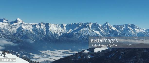 scenic view snowcapped mountain against sky