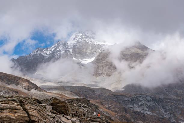 Scenic View Of Snow-Capped Mountains Against Sky, Barkot, India