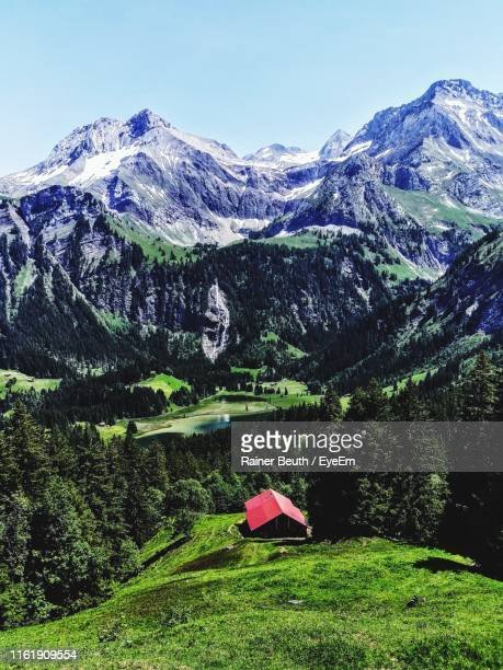 scenic view of snowcapped mountains against sky - sion switzerland stock pictures, royalty-free photos & images