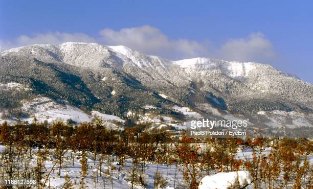 scenic view of snowcapped mountains against sky - 1985 stock pictures, royalty-free photos & images
