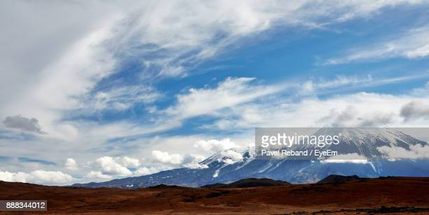 scenic view snowcapped mountains against sky