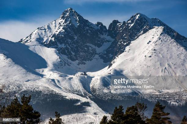 scenic view of snowcapped mountains against sky - slovakia stock pictures, royalty-free photos & images