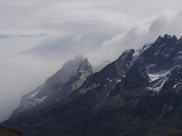 Scenic View Of Snowcapped Mountains Against Sky, Torres Del Paine Mountain, Chile