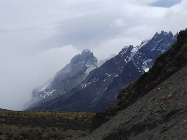 Scenic View Of Snowcapped Mountains Against Sky, Torres Del Paine Mountains, Patagonia Chile