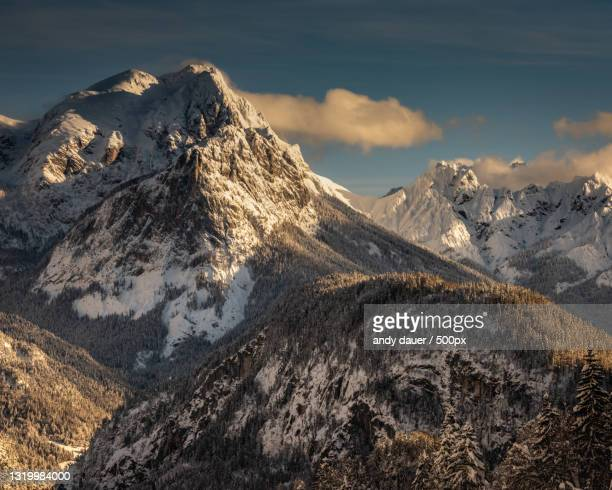 scenic view of snowcapped mountains against sky,austria - andy dauer stock pictures, royalty-free photos & images
