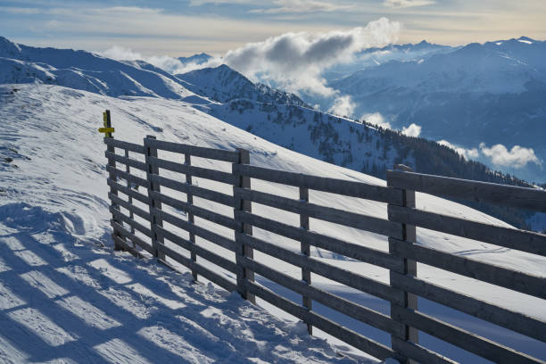 Scenic view of snowcapped mountains against sky,Belka,Russia