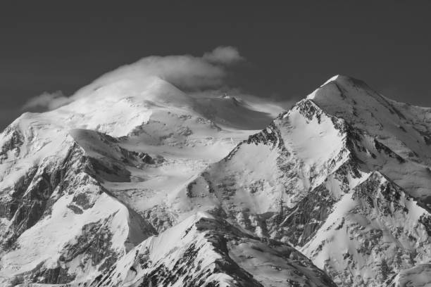 Scenic view of snowcapped mountains against sky,Denali National Park,United States,USA