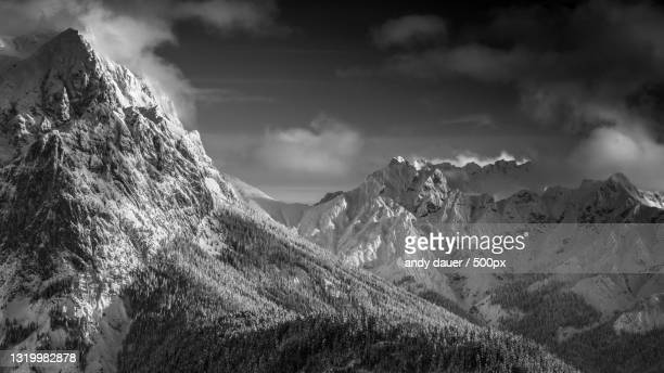 scenic view of snowcapped mountains against sky,unken,austria - andy dauer stock pictures, royalty-free photos & images