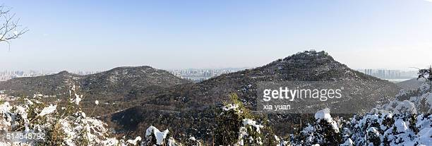Scenic View Of Snow-Covered Jade Emperor Hill,Hangzhou,Zhejiang,China