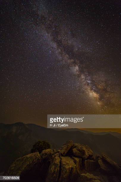 scenic view of star field against sky at night - castle rock colorado stock pictures, royalty-free photos & images