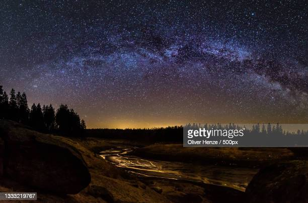scenic view of star field against sky at night,oderteich,germany - nacht stock pictures, royalty-free photos & images