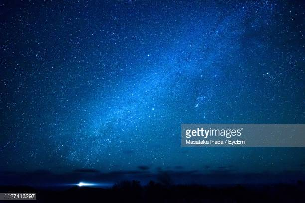 scenic view of star field at night - star space ストックフォトと画像