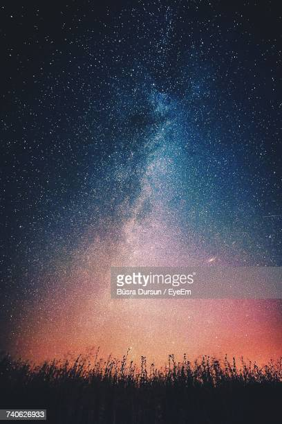 scenic view of star field at night - milky way stock pictures, royalty-free photos & images