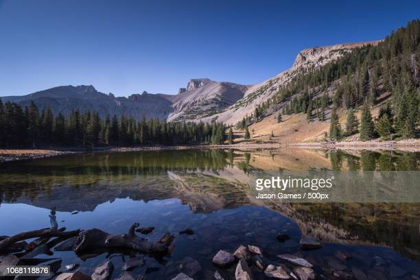 scenic view of stella lake in great basin national park - great basin stock pictures, royalty-free photos & images