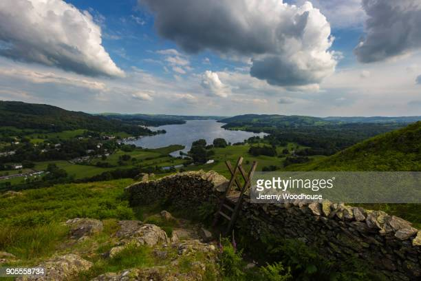 Scenic view of stone wall in countryside