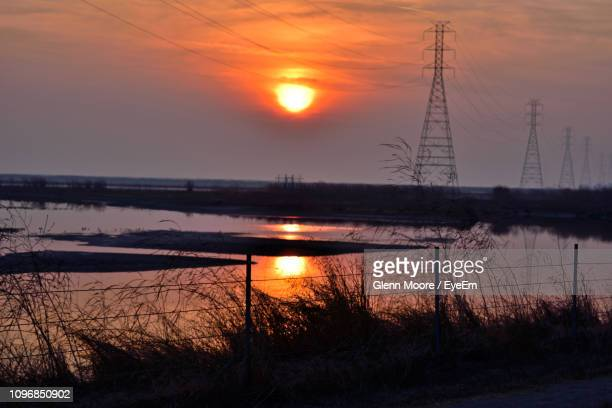 scenic view of sunset over lake - hayward california stock pictures, royalty-free photos & images