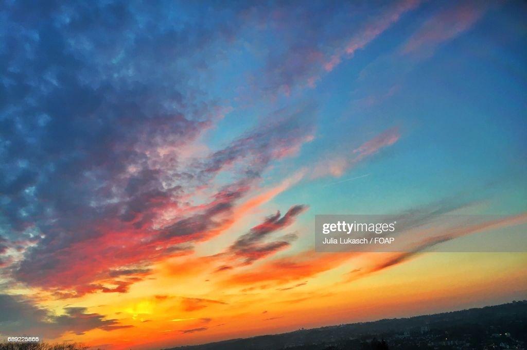 Scenic view of sunset : Foto de stock