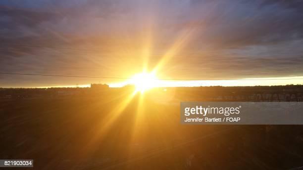 scenic view of sunset - jennifer bartlett stock-fotos und bilder