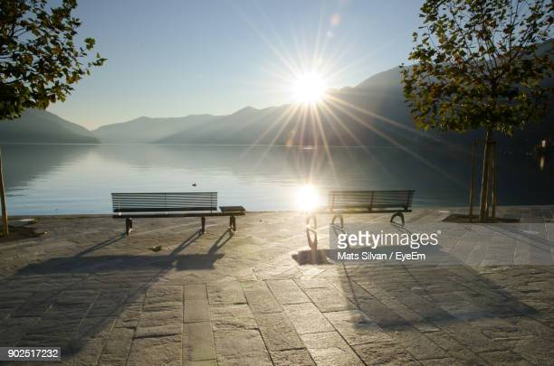 scenic view of sunset - ticino canton stock pictures, royalty-free photos & images