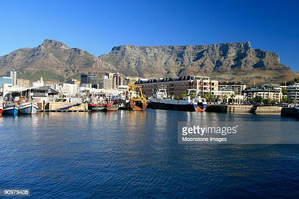 Scenic view of Table Mointain in Cape Town, South Africa