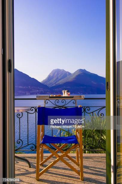 Scenic View Of Terrace In Front Of Mountains