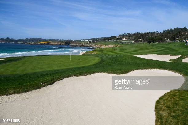 A scenic view of the 10th hole during the third round of the ATT Pebble Beach ProAm at Pebble Beach Golf Links on February 10 2018 in Pebble Beach...