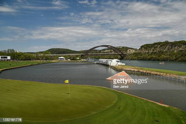 Scenic view of the 13th green during the semifinal match at the World Golf Championships-Dell Technologies Match Play at Austin Country Club on March...